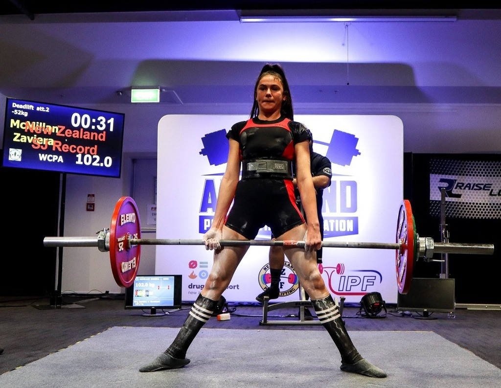 National Powerlifting Title for Zaviera McMillan